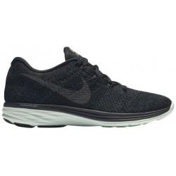 Nike Flyknit Lunar 3 - Women's - Running - Shoes - Black/Metallic Pewter/Anthracite/Green-sku:26838003
