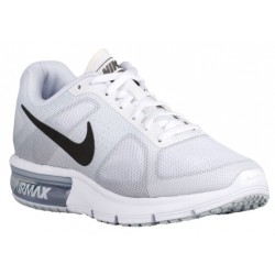 Nike Air Max Sequent - Women's - Running - Shoes - White/Cool Grey/Pure Platinum/Metallic Dark Grey-sku:19916100