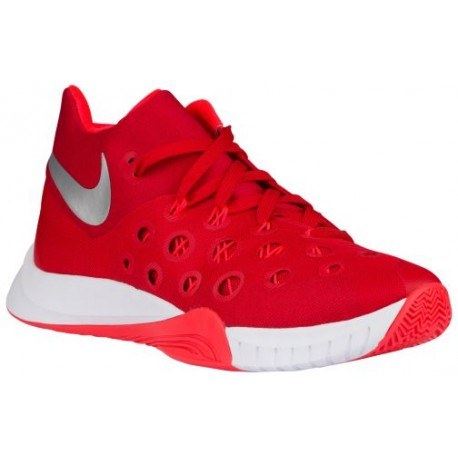 Nike Zoom Hyperquickness 2015 - Men's - Basketball - Shoes - University Red/Bright Crimson/Metallic Silver-sku:49883606