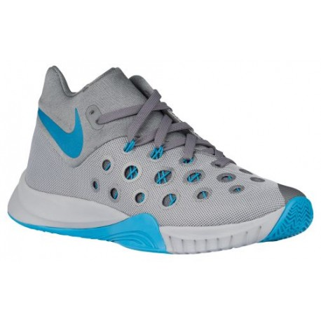 Mens Shoes Nike Zoom Hyperquickness 2015 Wolf Grey/Cool Grey/Blue Lagoon
