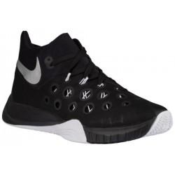 Nike Zoom Hyperquickness 2015 - Men's - Basketball - Shoes - Black/White/Metallic Silver-sku:49883001