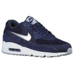 Nike Air Max 90 - Men's - Running - Shoes - Midnight Navy/White/Wolf Grey/Metallic Silver-sku:37384411