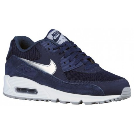 01323f9afc3 Nike Air Max 90 - Men's - Running - Shoes - Midnight Navy/White/Wolf  Grey/Metallic Silver-sku:37384411