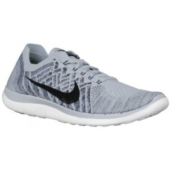 Nike Free 4.0 Flyknit 2015 - Men's - Running - Shoes - Pure Platinum/White/Cool Grey/Black-sku:17075005