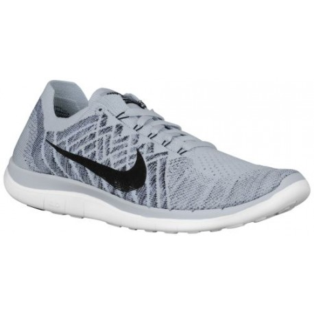 nike free 4.0 flyknit black and white